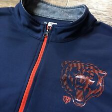 NFL Chicago Bears Football Full Zip Dri-Fit Jacket Mens Size Large TX3 Cool