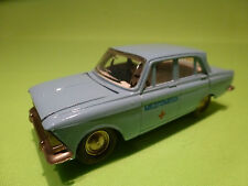 MADE IN USSR CCCP 1:43 MOSKVITCH 412 - AMBULANCE RED CROSS - GOOD CONDITION