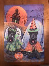 Scottie dog Scottish Terrier Halloween Garden Flag
