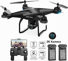 Holy Stone HS120D RC GPS Drohne mit 2K HD Kamera Quadrocopter Drone 2 Batterien