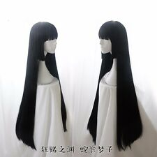 Anime Kakegurui Yumeko Jabami Cosplay Full Wig Long Hair Wigs Women's Wig Black