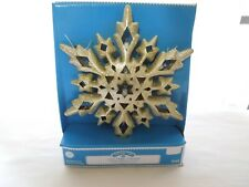 "Holiday Time Led Tree Topper Gold Snowflake Warm White Lights 10"" Diameter"