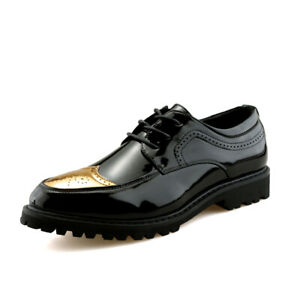 Men's Lace Up Faux Leather Derby Oxfords Fashion Formal Nightclub Party Shoes
