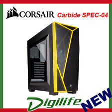 Corsair Carbide SPEC-04 Mid-Tower Gaming Case - Black/Yellow