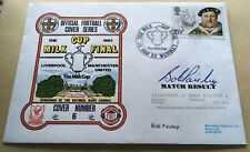 More details for liverpool v manchester united first day cover signed by legend bob paisley