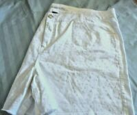 NWOT LANE BRYANT White Cotton Denim SHORTS 2% Spandex Size 26 Eyelet Dot