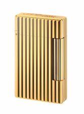 NEW ST Dupont Initial Golden Bronze Finish Striped Pattern Lighter ST020803