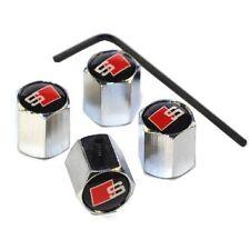 Audi S line Tyre Caps Dust Anti Theft Locking Set Of 4  Valve Cap RETAIL PACKED