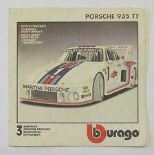 ADESIVO anni '80 / Old Sticker AUTO BURAGO PORSCHE 935 TT MARTINI (cm 9 x 9)
