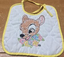 Vintage Paragon Needlecraft Walt Disney Bambi Bib