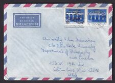 Germany to US 1985 Air Mail Cover Europa 60 ph stamp Fancy Cancel