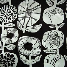"Marimekko Finland black and off white cushion pillow cover, hand made, 20"" 50cnm"
