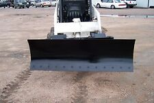 "new heavy 66""' four way dozer blade plow for skid steer fits John Deere Bobcat"