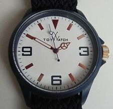 """ToyWatch"" Large Face Watch with Navy Fabric Strap: In Working Order"