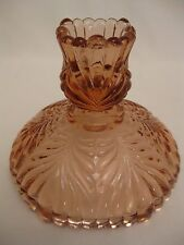 Fenton Pink / Amber candle holders - pair