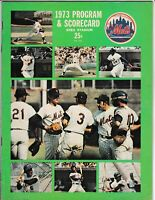 1973 New York Mets Official Program And Score Card Vs Pittsburgh Pirates