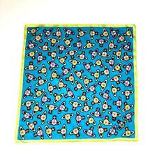 Vivienne Westwood Cotton Square/Scarf/Neckerchief/Bandana Colorful Orb Print