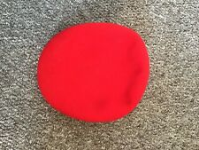 Kangol Red Wool Flat Cap XL