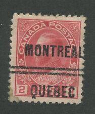 "CANADA PRECANCEL ""MONTREAL"" 2-106 OG"