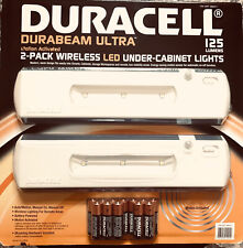 DURACELL Durabeam Ultra 2-Pack WIRELESS Under-Cabinet LED Lights BRAND NEW