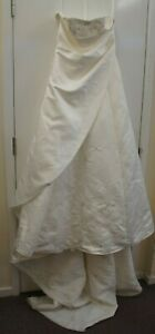 Romantica Wedding Ivory Strapless Embroidered and Beaded Wedding Dress Size 12