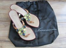 Giuseppe Zanotti VICINI Women Gemstone Leather Sandals Shoes US 5 EUR 35 - EUC