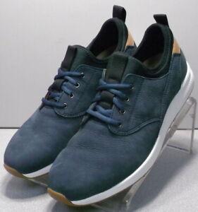 591619 SP50 Men's Shoes Size 9 M Navy Leather Lace Up Johnston & Murphy