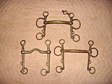 Lot of 3 Vintage Bronze Horse Bits