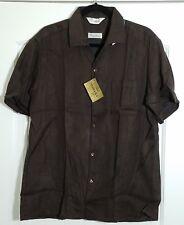 NEW CAPRI CALIFORNIA COHAMA Sunburst Short Sleeve Brown Vintage Shirt Size L