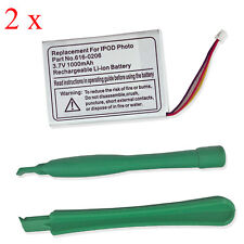 2Pcs New Battery For iPod Classic 4th Gen Photo 30GB 40GB 60GB A1099 616-0206