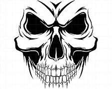 demonic skull Vinyl Decal Sticker Car Van bike window Laptop