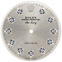 REFINED AIR-KING SS SILVER DIAMOND DIAL FOR ROLEX-34 (REF. 14000, 114200)