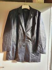 Vintage Ladies Leather Jacket Size 16 Excellent Condition