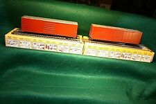 2 HO 50' Box cars assembled unlettered custom painted CN CNR Canadian National