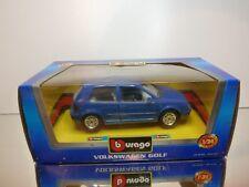 BBURAGO 0110 VW VOLKSWAGEN GOLF - BLUE 1:24 - EXCELLENT CONDITION IN BOX