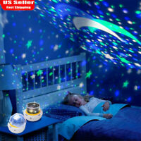 LED Star Projector Night Light Ocean Wave Galaxy Universe Lamp For Kids Party