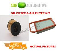 BIO PETROL SERVICE KIT OIL AIR FILTER FOR PEUGEOT 407 SW 2.0 140 BHP 2009-10