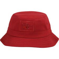 True Religion Uomo Lucido Buddha Vero Cotone Rosso Cappello da Pescatore  Taglie  929bdee99c5b