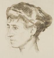 Carl WALTHER (1880-1956), Porträt seiner Frau Vera, Kreide