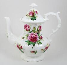 Vintage Hammersley Teapot Grandmother's Rose Flower Finial Footed & Embossed