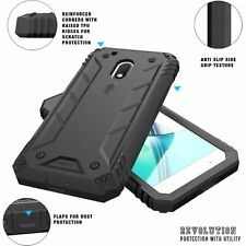 Poetic Shockproof Hybrid Case with screen Protector for Moto G4 Play Black 2016
