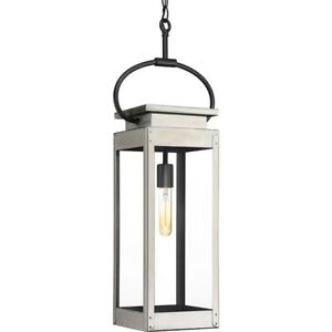 Progress Union Square 1-Light Hanging Lantern, Stainless Steel - P550018-135