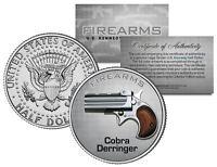 COBRA DERRINGER Gun Firearm JFK Kennedy Half Dollar US Colorized Coin