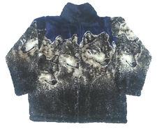 Navy Wolves Plush Fleece Jacket Kids & Junior Sizes