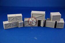 Tank Workshop 1/35 Heavy Cargo Crates Boxes (9 pieces, 3 different sizes) 354005