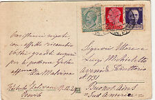 5 c Leoni+20 c+50 c Imperiale-Cartolina Treviso->BUENOS AIRES 17.12.1929
