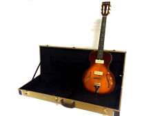 NEW FLAME MAPLE 6 STRING LITTLE SISTER STYLE SEMI HOLLOW ELECTRIC GUITAR + CASE