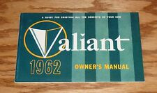 1962 Plymouth Valiant Owners Operators Manual 62