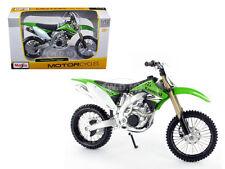KAWASAKI KX 450F GREEN BIKE 1/12 MOTORCYCLE BY MAISTO 31175