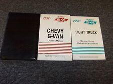 1990 Chevy G10 G20 G30 Van Owner Owner's Operator Manual Set 4.3 5.0 5.7 6.2 7.4